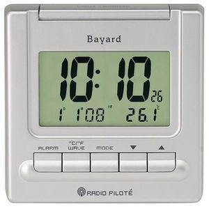 BAYARD Réveil Digital de Voyage argenté Radio piloté x