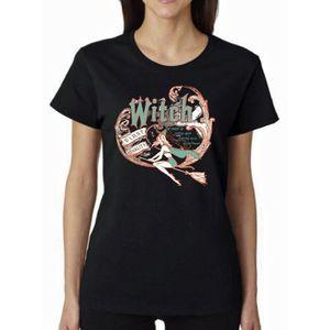 T-SHIRT Fashion Womens Witch Shirt halloween Shirt Hallowe
