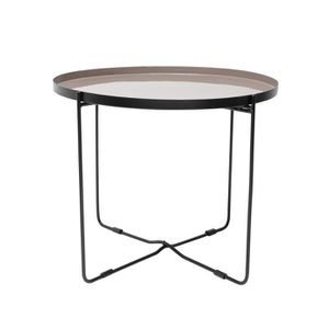 TABLE BASSE Table basse ronde Hisor taupe