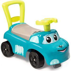 PORTEUR - POUSSEUR SMOBY - Porteur Auto Enfant Bleu