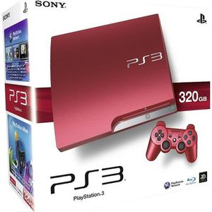 CONSOLE PS3 console ps3 slim rouge 320gb