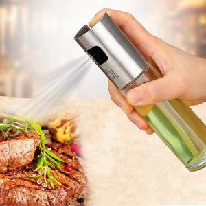 Verre Huile Pulvérisateur Olive Pump Spray Vinaigre Bouteille Mist cuisson cuisine 100 ml