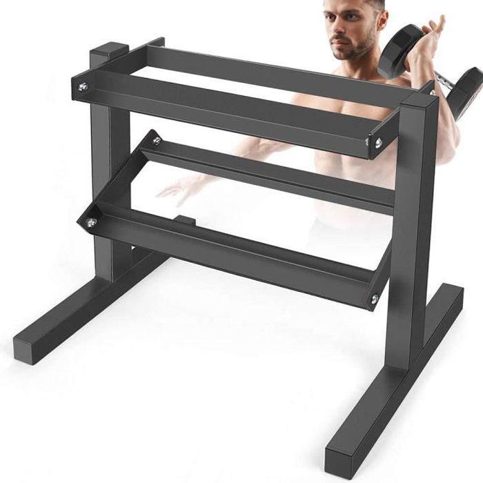 Support pour Haltères Rack de Rangement Repose Haltères pour Musculation Stockage d'haltères à la Maison Max. 200 kg