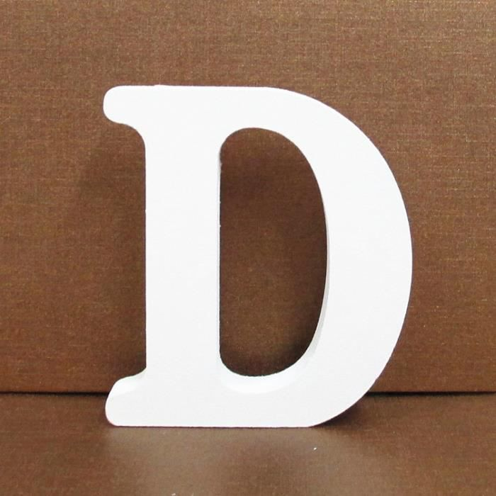 Lettre décorative Lettres En Bois Blanc Alphabet De Mariage Fête D'anniversaire Décorations À La Maison D YZW*39