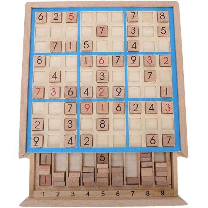 10pcs Jeu d'échecs en bois enfants Intelligence raisonnement jouets d'échecs cadeaux Conseil de formation de logique