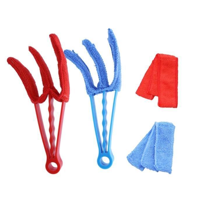 4 pièces fenêtre store nettoyant lavable Duster brosse de nettoyage pour porte barrière ACCESSOIRES ENTRETIEN - PIECES ENTRETIEN