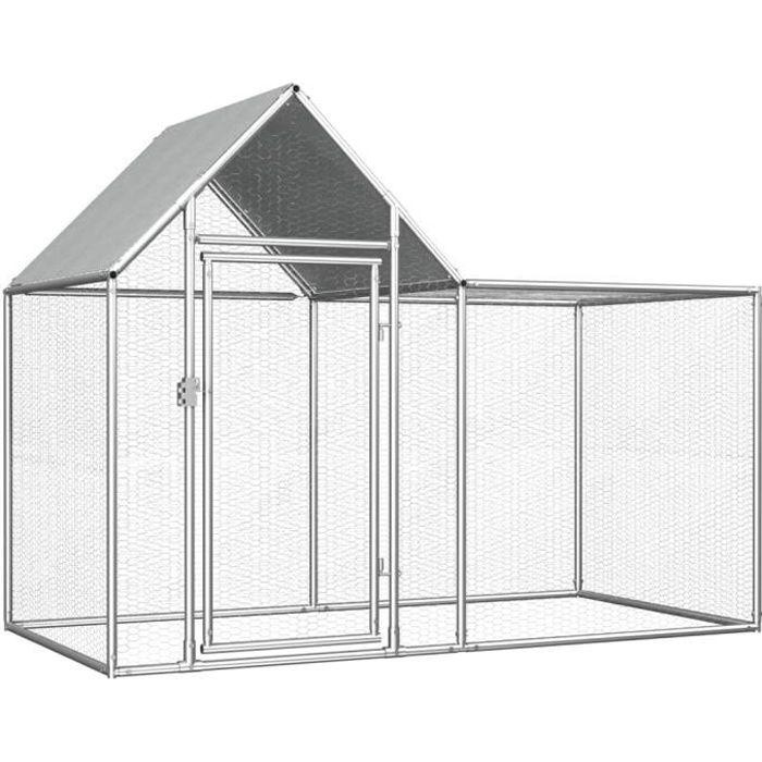 🍓9898Moderne - Poulailler extérieur - Enclos poulailler Contemporain- Parc grillagé Clapier d'extérieur cages pour lapin petits ani