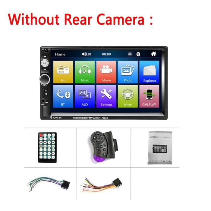 LeeKooLuu 2 Din Autoradio 2Din Autoradio Bluetooth FM Radio Audio AUX USB SD Android Mirrorlink lecteur multimédia - Type Option 1