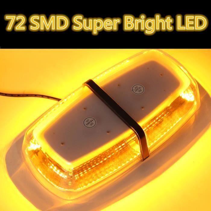 72 SMD 72W LED Lumière Stroboscope Strobe Clignotant Urgence Alerte Voiture So52381
