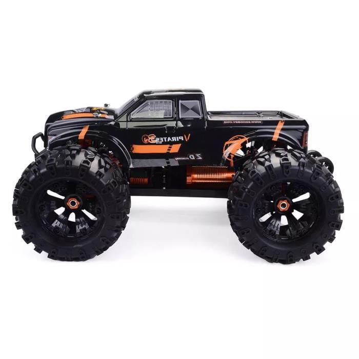 Châssis en métal de voiture RC sans brosse électrique ZD Racing MT8 Pirates3 1-8 2,4 G 4WD 90 km - h RTR Orange noir Véhicule