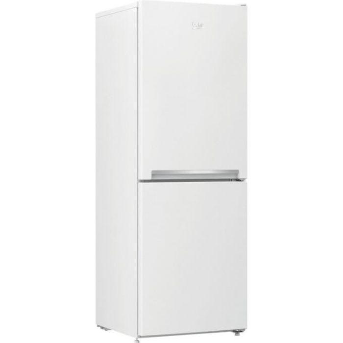 beko - réfrigérateur combiné 54cm 229l a+ statique inox - rcsa240k30wn