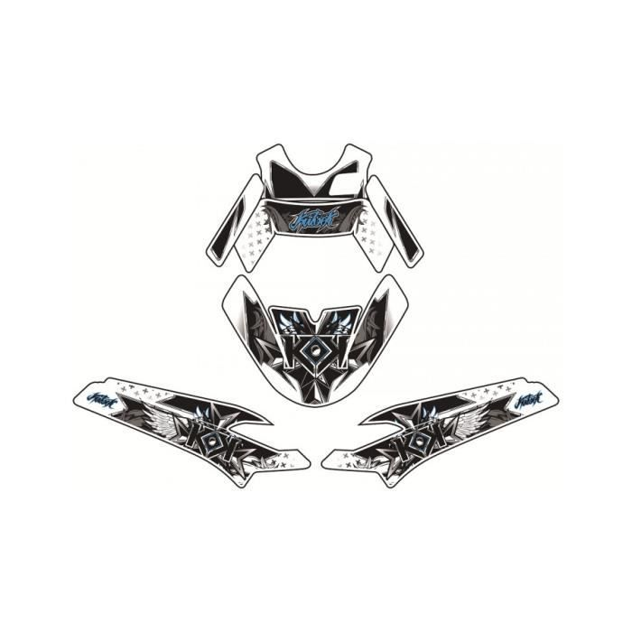 Kit déco KUTVEK Demon bleu Peugeot Ludix