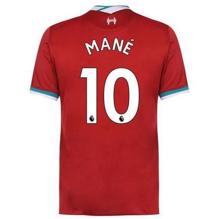 Nouveau Maillot Homme Nike FC Liverpool Domicile Saison 2020-2021 Flocage Officiel Numéro 10 Mané