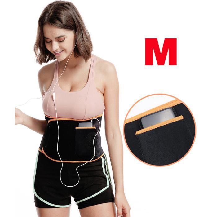 Fitness Taille Ceinture abdominale Minceur Amincissante Perte du Poid Sport Réglable M ORANGE