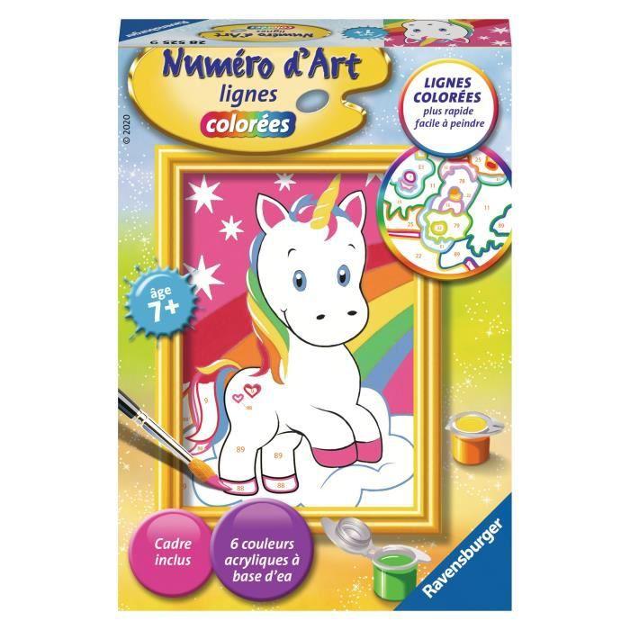 Numéro d'art - mini - Adorable licorne