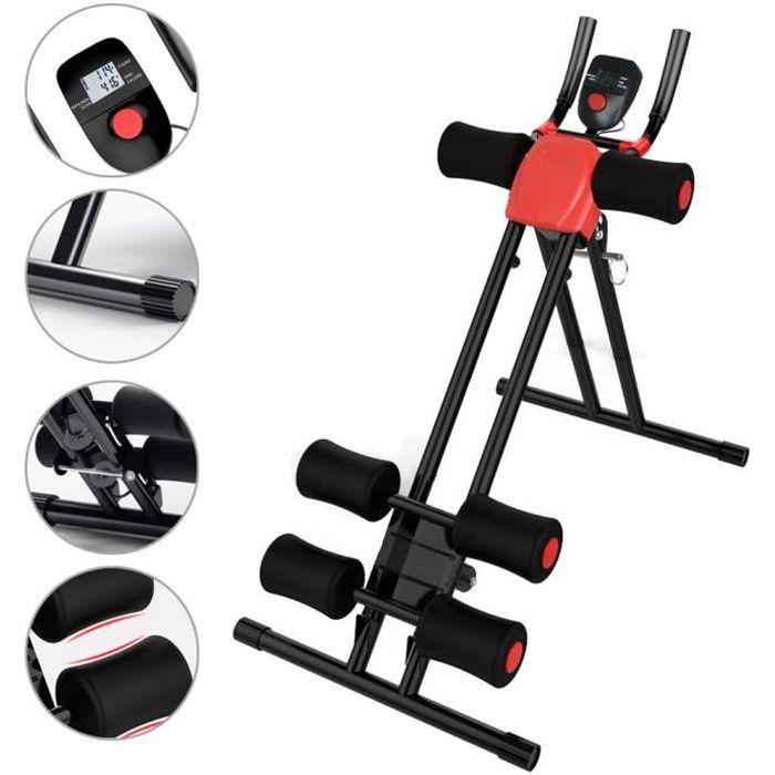 SINBIDE® Appareil de Musculation Machine, Planche pour Abdominaux Ajustable Pliable, 5 Minute Shaper, avec LCD écran