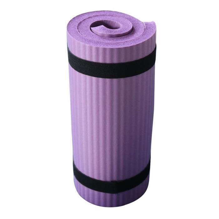 Tapis Anti-DéRapant Violet NBR Yoga Tapis de Sport Tapis de Gymnastique Souple Tapis de Pilates Coussinets Pliables pour Exercices
