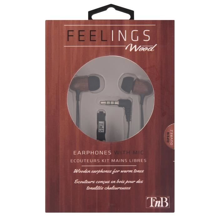 T'NB Feelings Ecouteurs intra-auriculaire - Bois