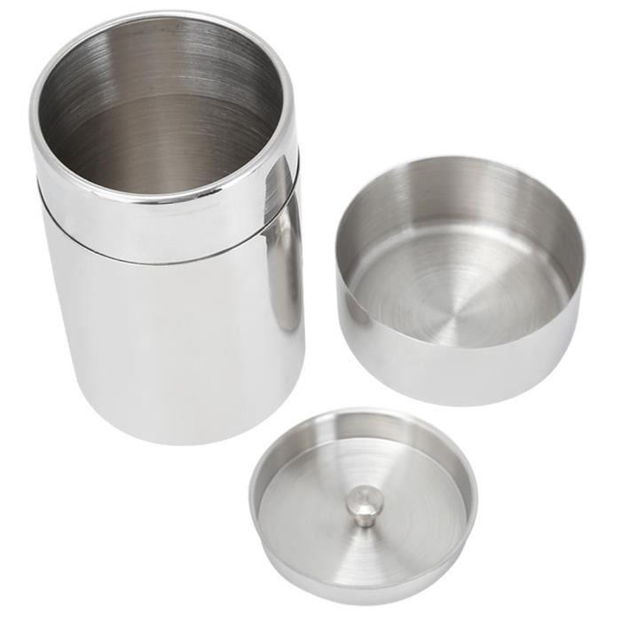 Pot de Stockage de Feuilles de Thé Scellé en Acier Inoxydable 304 Portable Récipient à Grains de Café(Taille S 400 ml )-YUW