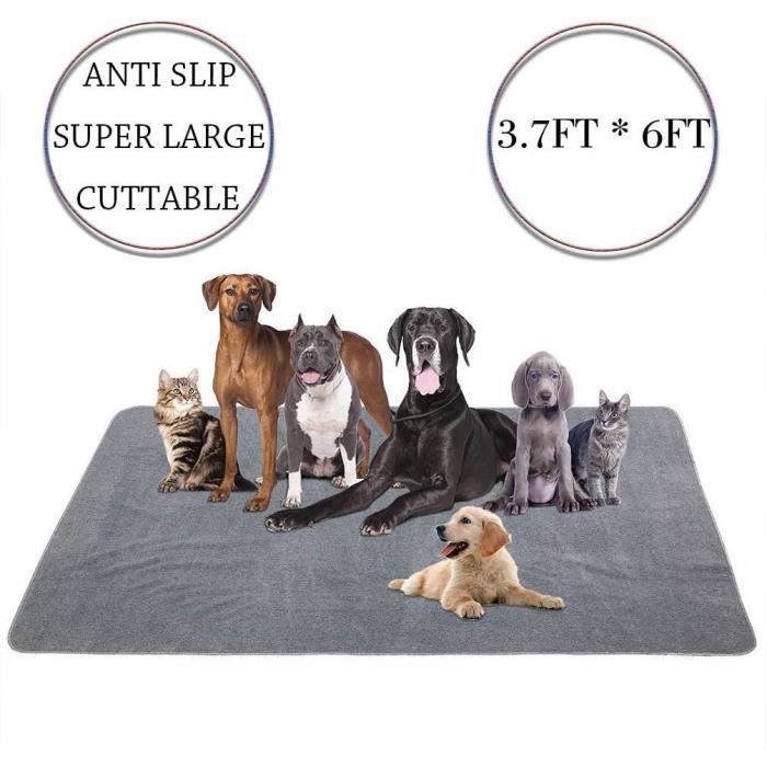 Yangbaga182*110CM Tapis Educateur pour chien et chat Ultra Absorbant et Antiderapant-Alèse Lavable de Grande Taille