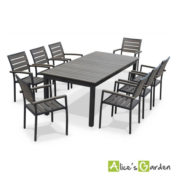 seattle table de jardin 8 places extensible achat. Black Bedroom Furniture Sets. Home Design Ideas