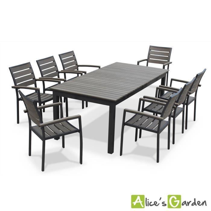 Seattle - table de jardin 8 places extensible - Achat ...