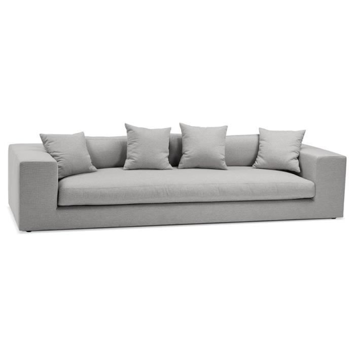 Grand Canapé Droit Design Justin Xxl En Tissu Gris Clair Achat Vente Canapé Sofa Divan Soldes Cdiscount