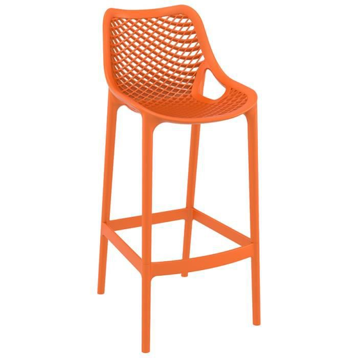 tabouret de jardin 39 brozer 39 orange achat vente. Black Bedroom Furniture Sets. Home Design Ideas