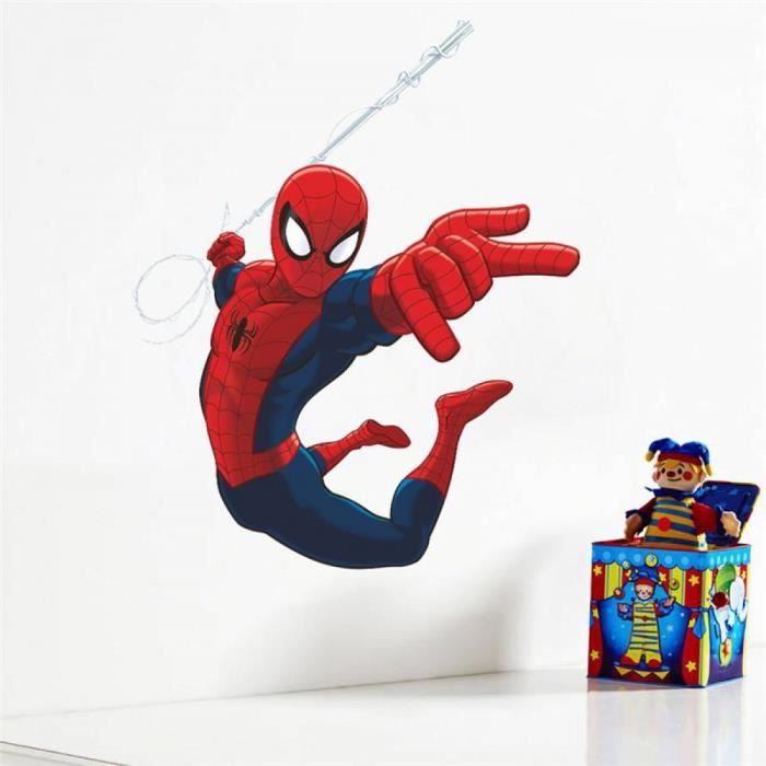 Spiderman super h ros stickers muraux enfants chambre for Decoration chambre spiderman