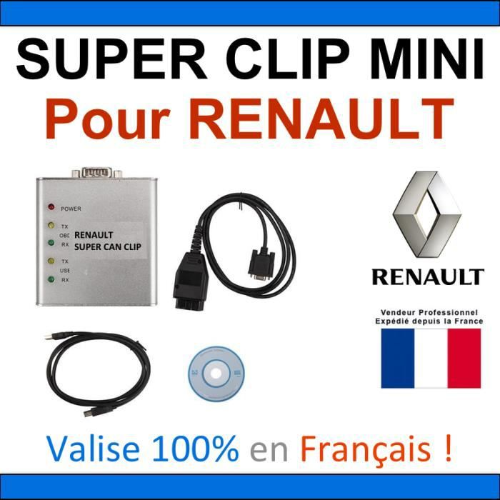 can clip renault achat vente can clip renault pas cher cdiscount. Black Bedroom Furniture Sets. Home Design Ideas