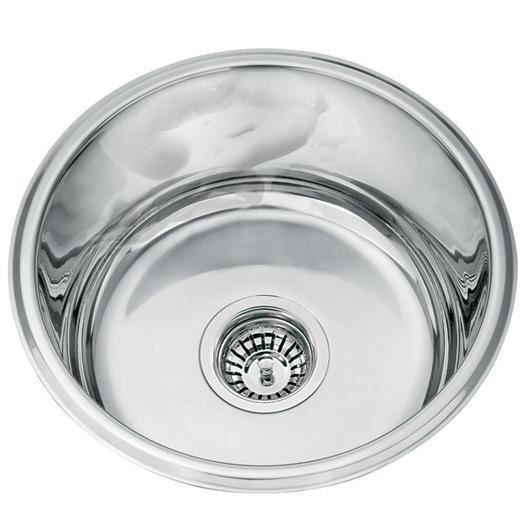 Evier inox rond sous plan 1 bac l45a fr achat vente for Evier rond resine