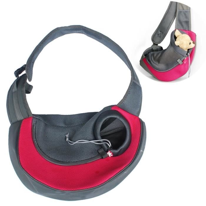 (#110) Dog And Cat Sling Carrier Hands Free Reversible Pet Papoose Bag, Size?small(red)
