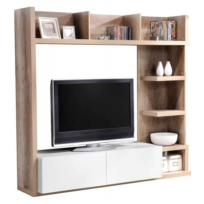 living tv pour s jour show achat vente meuble tv. Black Bedroom Furniture Sets. Home Design Ideas