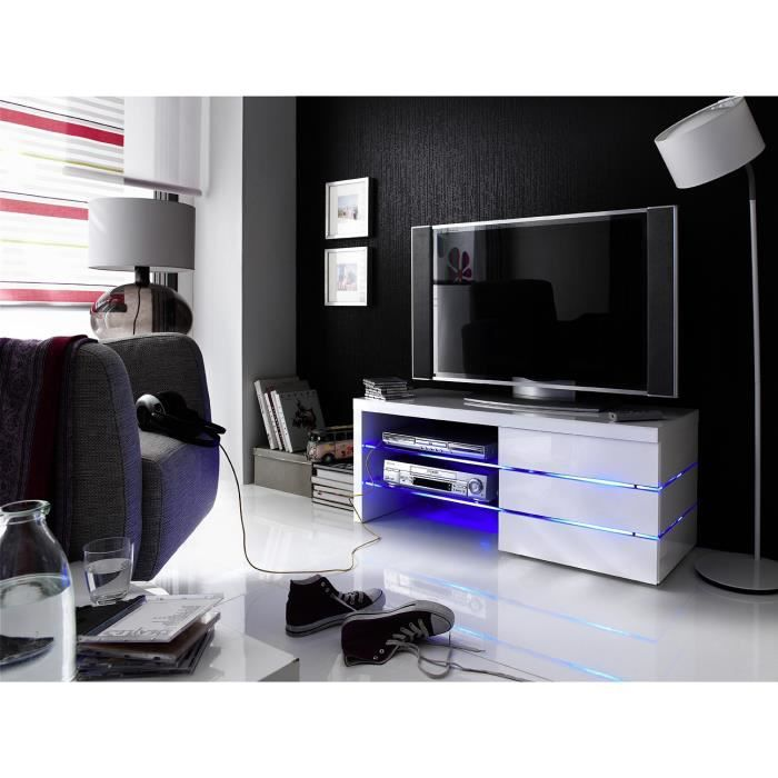 Meuble tv hifi video 110 cm sophie l 110 x p 42 achat for Meuble tv 110 cm fly