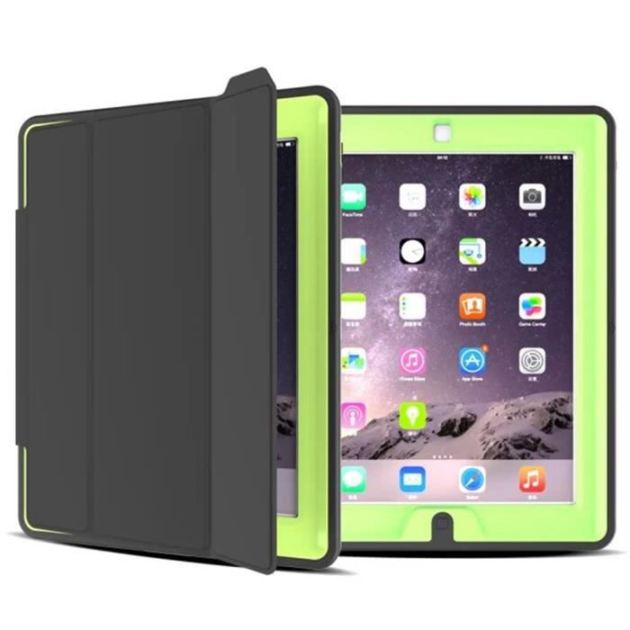 coque housse de protection pour ipad 2 3 4 couverture etui anti choc jaune vert achat vente. Black Bedroom Furniture Sets. Home Design Ideas