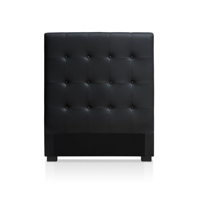t te de lit luxor 90cm noir achat vente t te de lit. Black Bedroom Furniture Sets. Home Design Ideas