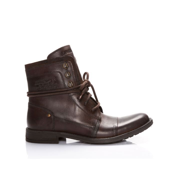 bottines levis savage dark brown marron marron achat vente bottine cdiscount