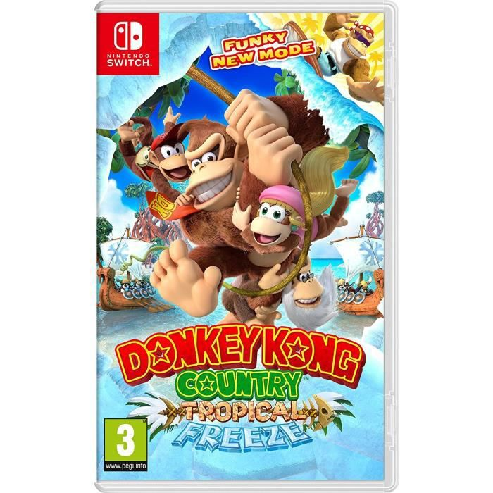 JEU NINTENDO SWITCH Donkey Kong Country Tropical Freeze switch +1 port