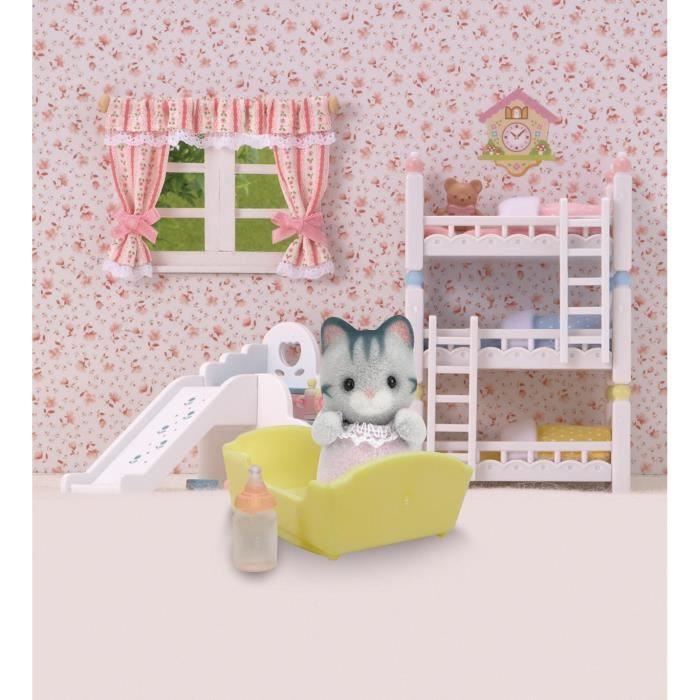 sylvanian families 3552 b b chat gris sylv achat vente peluche b b chat gris. Black Bedroom Furniture Sets. Home Design Ideas