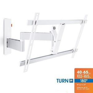 VOGEL'S WALL 2345 Blanc Support mural TV Orientable et Inclinable - TV de 40 ? 65\