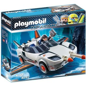UNIVERS MINIATURE PLAYMOBIL 9252 - Top Agents - Voiture de l'Agent P
