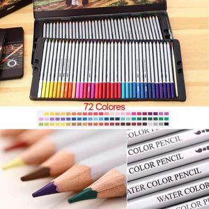 CRAYON DE COULEUR Lot de 72 Crayons de couleur crayon aquarelle avec