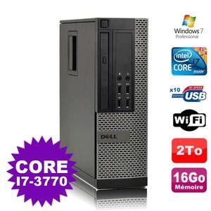 ORDI BUREAU RECONDITIONNÉ PC Dell 7010 SFF Core I7-3770 3.4GHz 16Go Disque 2