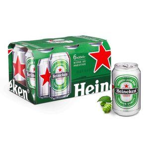 BIÈRE Bière blonde bouteille en pack 6 x 33 cl Heineken