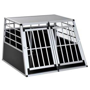 CAISSE DE TRANSPORT Cage de transport pour chien en aluminium noir 104