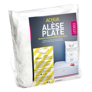 PROTÈGE MATELAS  Alèse plate 140x190 cm ACHUA  - Molleton 100% coto