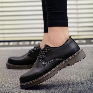 DERBY Richelieu Cuir Chaussure Homme Femme - Noir