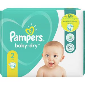 COUCHE Pampers Baby-Dry Taille2, 34Couches