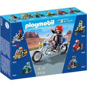 UNIVERS MINIATURE PLAYMOBIL 5526 Chopper Bleu