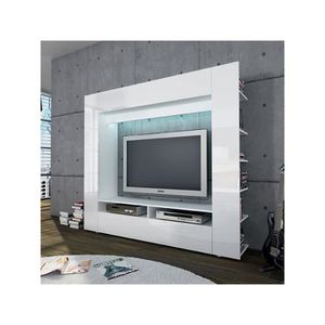 meuble tv bibliotheque achat vente meuble tv bibliotheque pas cher cdiscount. Black Bedroom Furniture Sets. Home Design Ideas